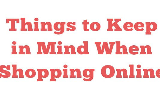 Things to Keep in Mind When Shopping Online