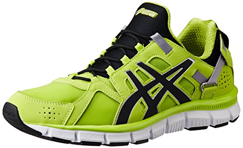 ASICS Men's Gel-Synthesis Lime, Black and Lime Mesh Multisport Training Shoes - 9 UK