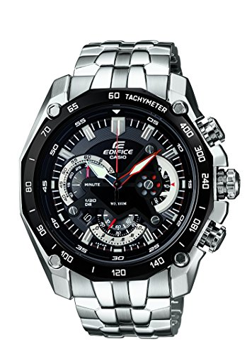 Casio Edifice Tachymeter Chronograph Black Dial Men's Watch - EF-550D-1AVDF (ED390)