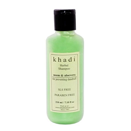 Khadi Neem and Aloevera Herbal Shampoo SLS and Paraben Free, 210ml
