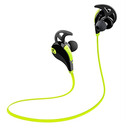 Soundpeats Qy7 Mini Lightweight Wireless Sports Headset (Black/Green)