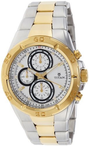 Titan Regalia Chronograph Analog Silver Dial Men's Watch - NE9308BM01J