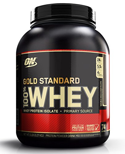 Optimum Nutrition (ON) 100% Whey Gold Standard - 5 lbs ( Double Rich Chocolate )