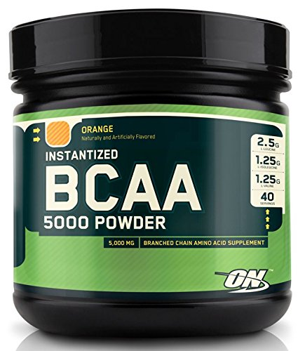 Optimum Nutrition (ON) Instantized BCAA 5000 mg Powder - 380 g (Orange Flavour)