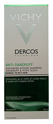 Vichy Dercos Anti-Dandruff Treatment Shampoo for Normal to Oily Hair (200ml)