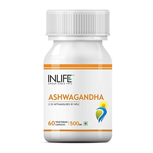 Inlife Ashwagandha Supplement 500Mg (60 Vegetarian Capsules)