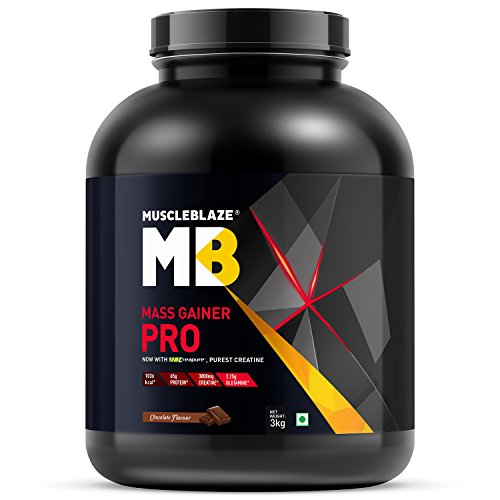 MuscleBlaze Mass Gainer Pro, Chocolate, 3kg