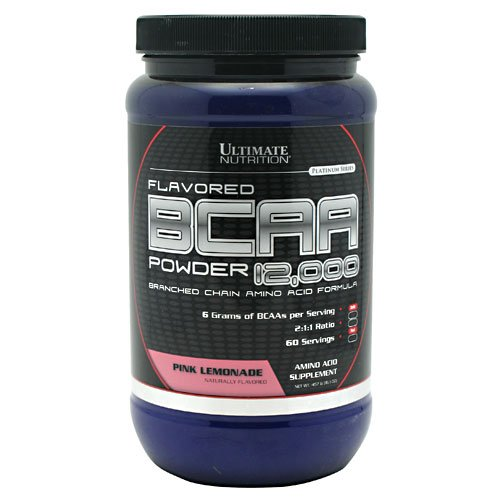 Ultimate Nutrition 100% Crystalline BCAA 12000-457.6 g (Pink Lemonade)