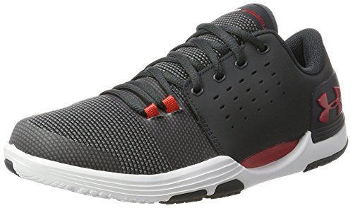 Under Armour Men's Limitless 3.0 Anthracite/Red Multisport Training Shoes - 9 UK/India (44 EU)(1295776-102)
