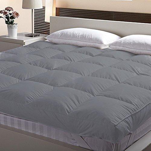 "Linenwalas Microfiber Mattress Padding/Topper for 5 Star Hotel Feel - King Size(72"" X 78""), Grey"