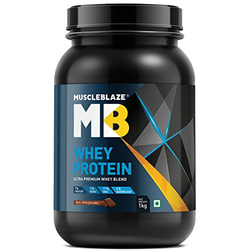 MuscleBlaze 100% Whey Protein - 2.2 lb/1 kg, 30 Servings (Rich Milk Chocolate)