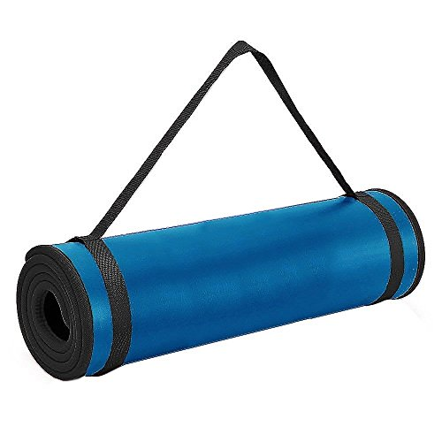 i-Heir 6mm Thick High-Density Anti-Tear Exercise Power Yoga Mat with Stitched Edges, 72x24inch