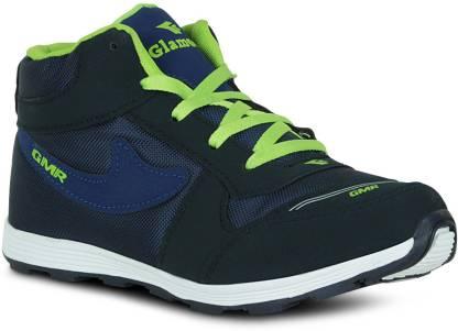 Fab Fashion Hi-Neck Navy Blue Sport Training & Gym Shoes